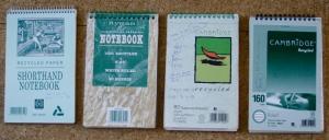 4 Spiral-bound Notebooks